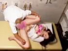 スーツのまま施術を受けに来た巨乳美人OLにエロいマッサージをしてハメちゃう悪徳整体師のセックス erovideo女性向け無料アダルト動画