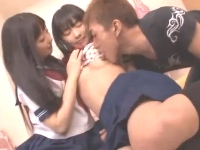 ロリ系パイパン美少女JKが同級生のエロ男女に気持ちいいセックスを教えてもらう erovideo