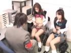 キセルをして捕まった女子校生2人組が駅員に体で電車賃を払うも勝手に中出しされてビックリ 裏アゲサゲ無料エロ動画