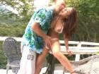 水着の日焼けの後がいやらしいスタイル抜群の美人巨乳ギャルが友達の先輩に青姦セックスされてイキまくる erovideo無料エロ動画