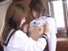 休みの日に学校の教室でお互いの身体を徹底的に愛撫しあいながら遊ぶ生まれつきレズなセーラー服美乳JK FC2 無料エロ動画