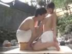 巨乳美人な姉と弟の貸し切り露天風呂での近親相姦SEXを盗撮 裏アゲサゲ無料エロ動画
