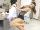 いやらしいフェラをするモデル系スレンダー美脚美人上司のパンストを履かせたままオフィスで淫らにセックス 裏アゲサゲ無料エロ動画